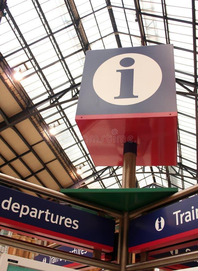 Informazioni 2 del treno fotografie stock libere da diritti