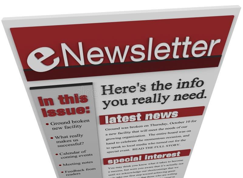 Informazioni del email dell'emissione del ENewsletter royalty illustrazione gratis