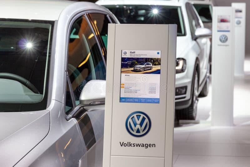 Informazioni dell'automobile di Volkswagen Golf fotografia stock