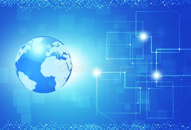 Informazioni di Digital globali illustrazione di stock