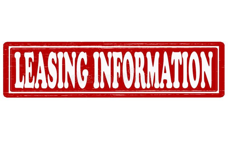 Informazioni di leasing illustrazione vettoriale
