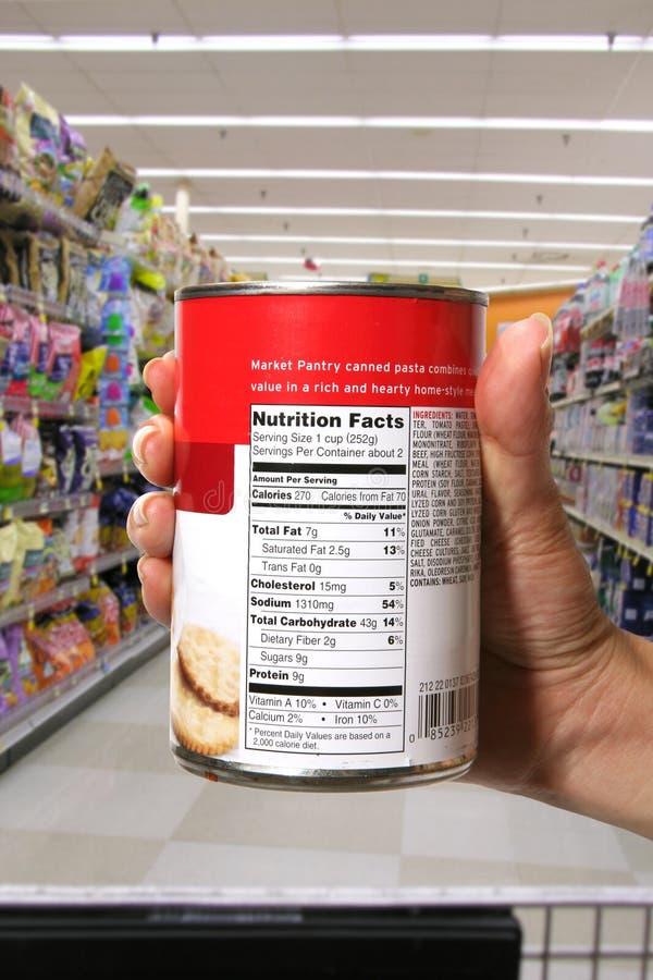 Informazioni di Nutrional fotografia stock libera da diritti