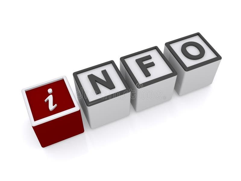 Informazioni nelle lettere del cubo illustrazione di stock