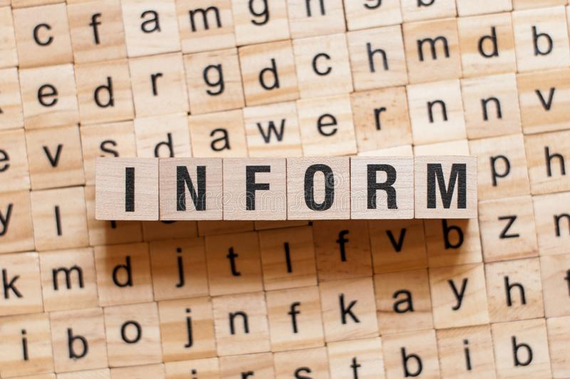 Informe al concepto de la palabra imagen de archivo libre de regalías