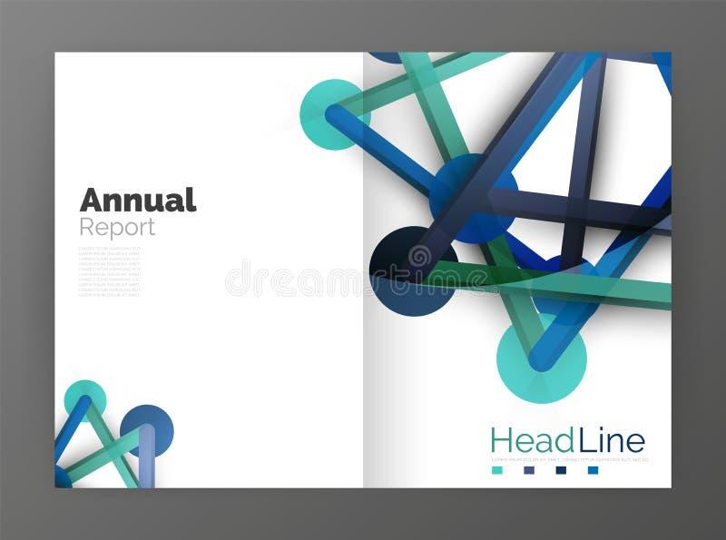 Informe anual da molécula ilustração do vetor