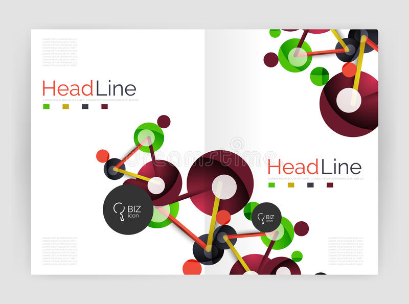 Informe anual da molécula ilustração stock