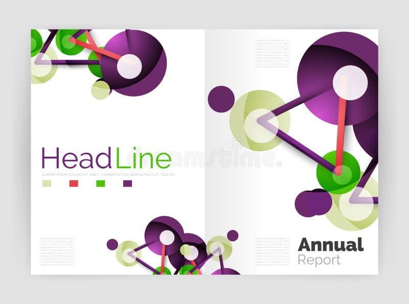 Informe anual da molécula ilustração royalty free