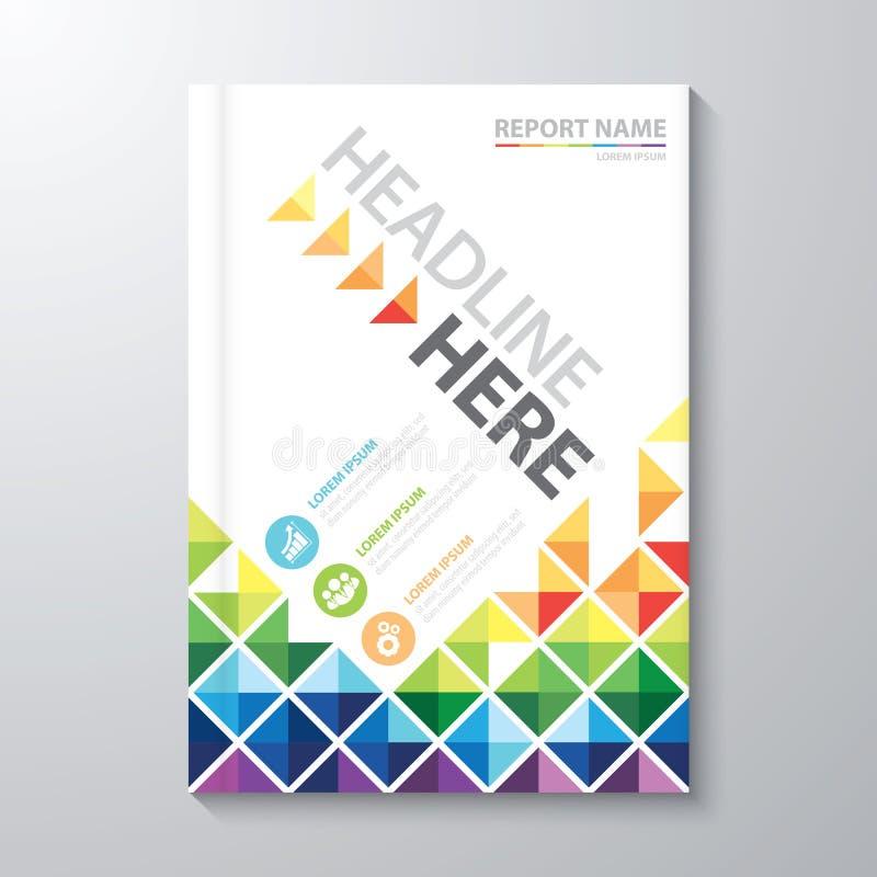 Informe anual de la cubierta ilustración del vector