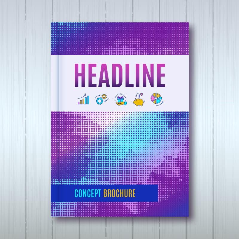 Informe anual de la disposición de la plantilla del folleto del diseño de la cubierta libre illustration