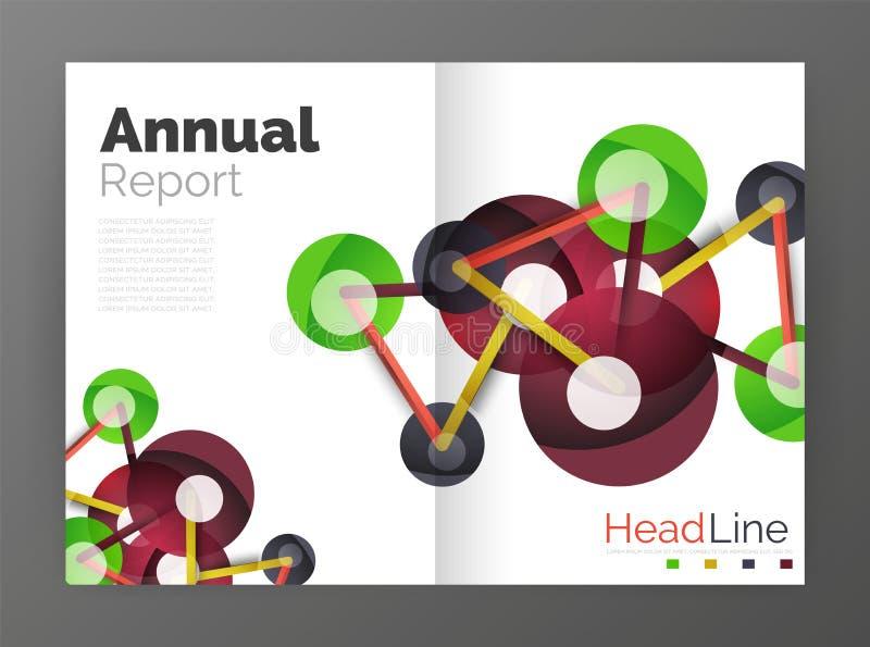 Informe anual de la molécula ilustración del vector