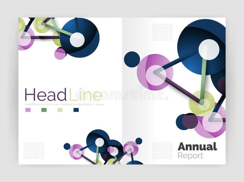 Informe anual de la molécula stock de ilustración
