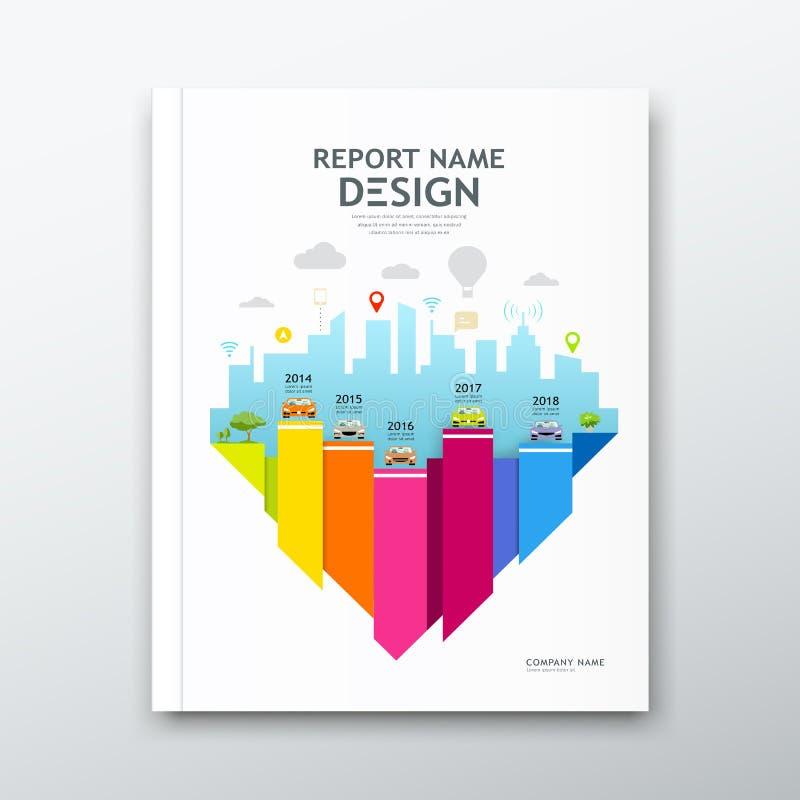 Informe anual del diseño del libro de la cubierta, diseño de la carta, plantilla del folleto libre illustration