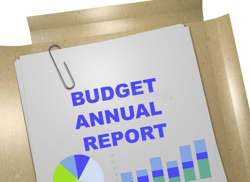 Informe anual do orçamento - conceito do negócio ilustração stock