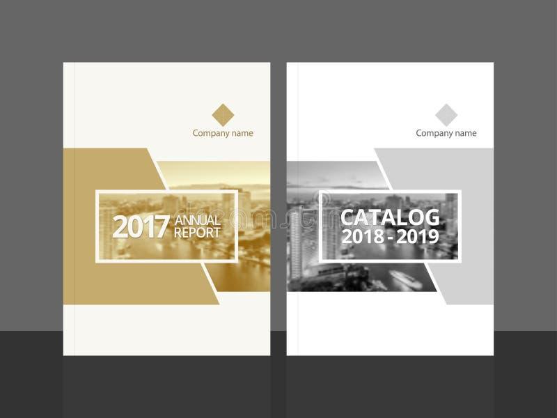 Informe anual e catálogo do projeto da tampa ilustração royalty free