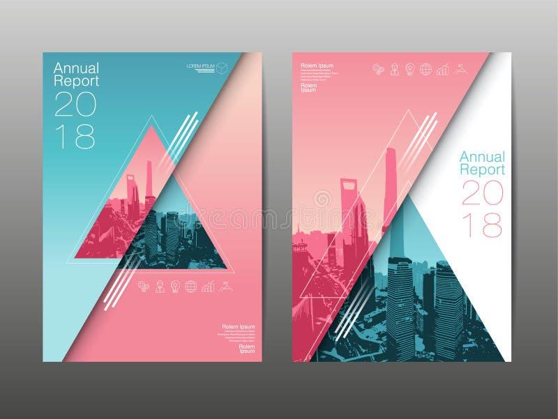Informe anual 2018, futuro, negocio, diseño de la disposición de la plantilla, co libre illustration