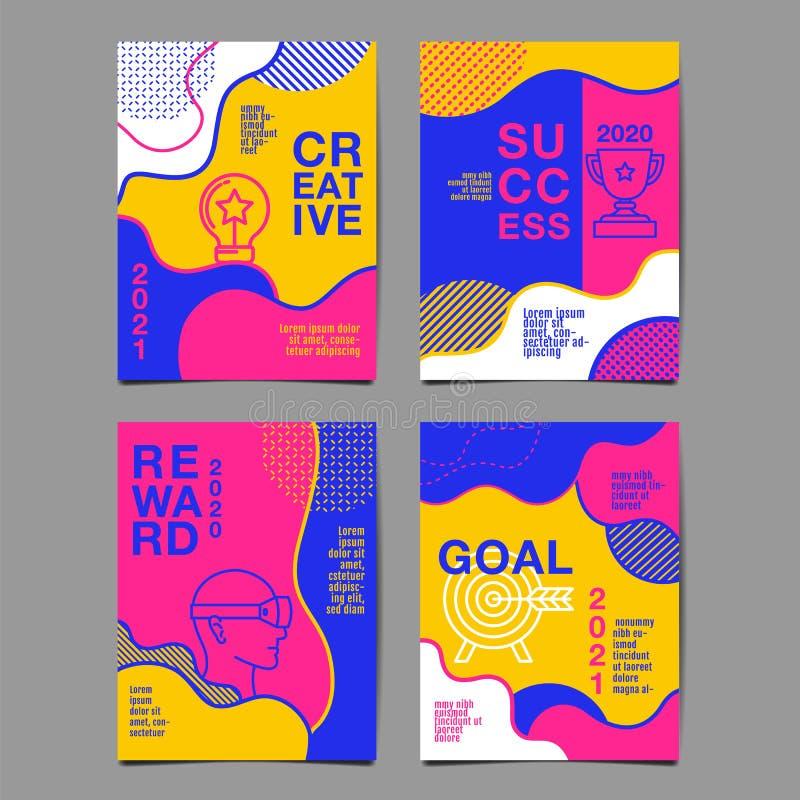 Informe anual 2020,2021, futuro, negocio, dise?o de la disposici?n de la plantilla, libro de la cubierta vector colorido, plano i libre illustration