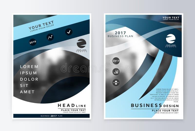 Informe anual y folleto Informes de la plantilla del folleto ilustración del vector