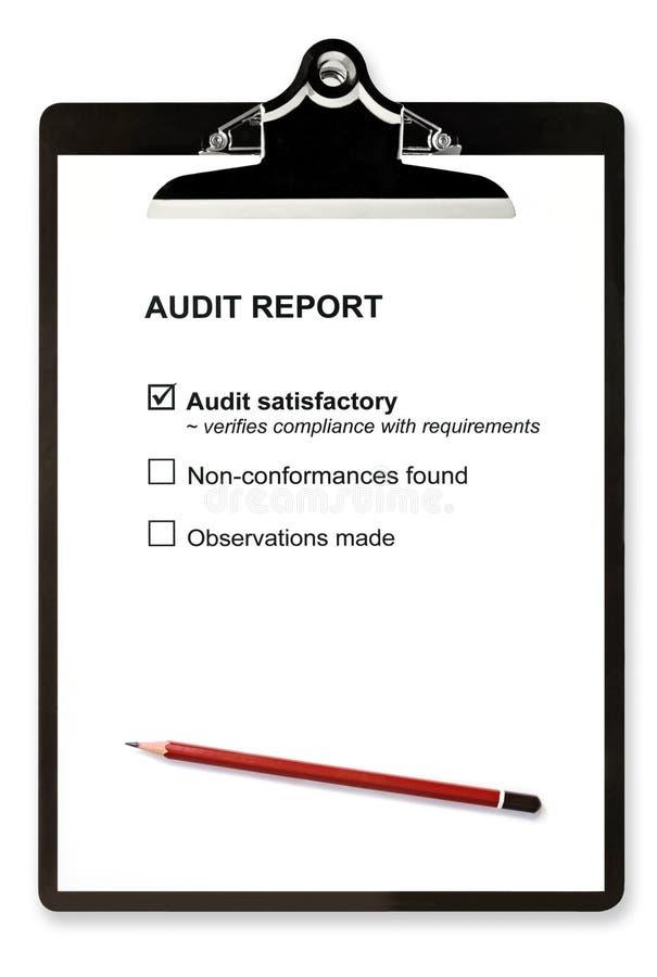 Informe de auditoría imágenes de archivo libres de regalías