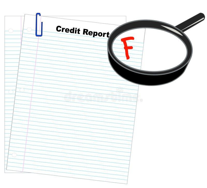 Informe de crédito pobre libre illustration
