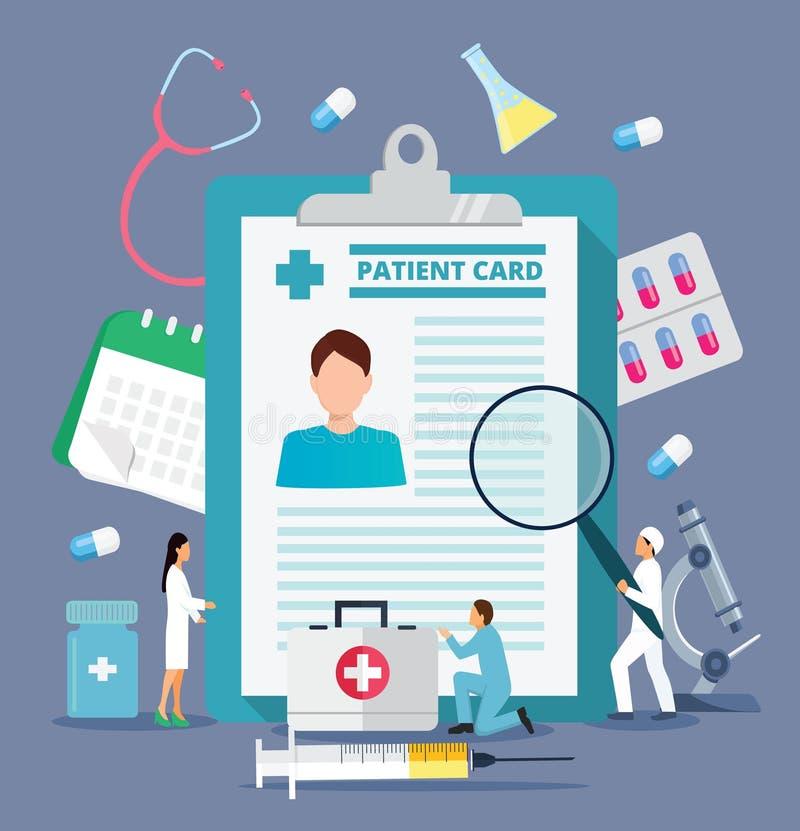 Informe de la investigación médica en línea o vecto del contrato libre illustration