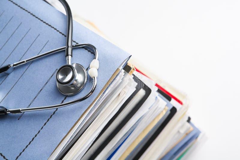 Informe médico imagen de archivo