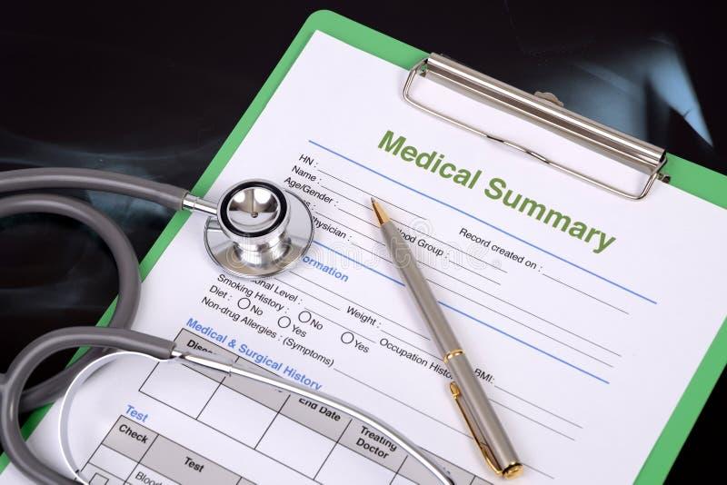 Informe médico imagem de stock royalty free