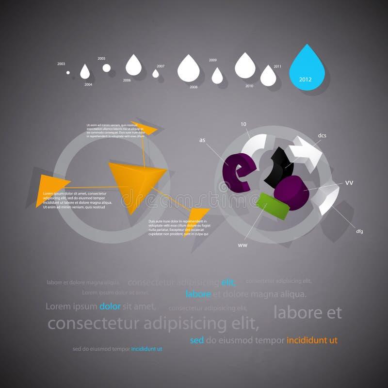 Informe tridimensional estadístico de Infographics stock de ilustración