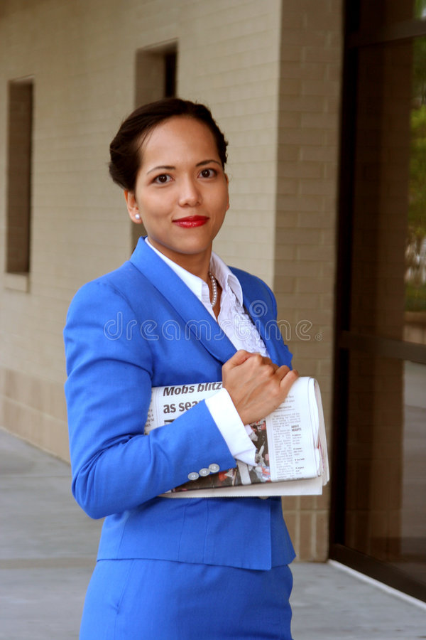 Informed Businesswoman stock images
