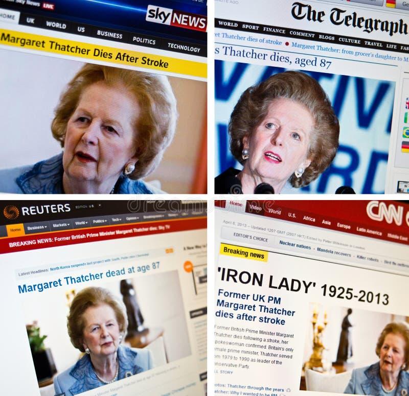 Margaret Thatcher desaparece imagen de archivo