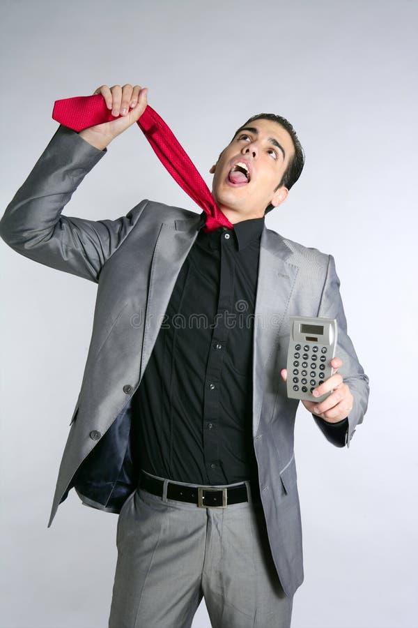 Informes de malas noticias formales del juego del hombre de negocios fotos de archivo