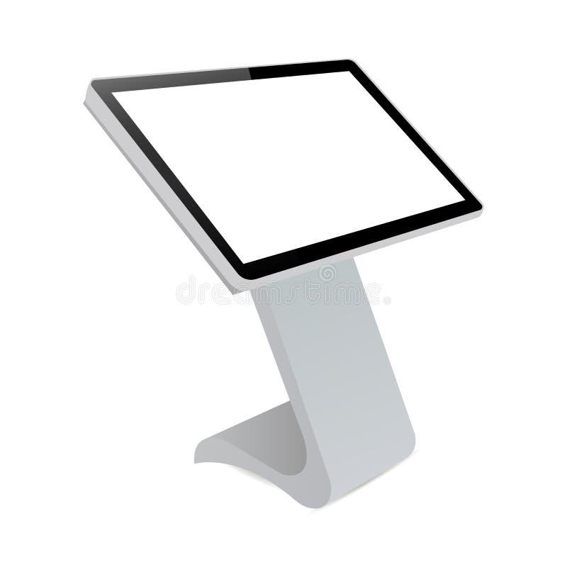 Informierender Kiosk Digital vektor abbildung