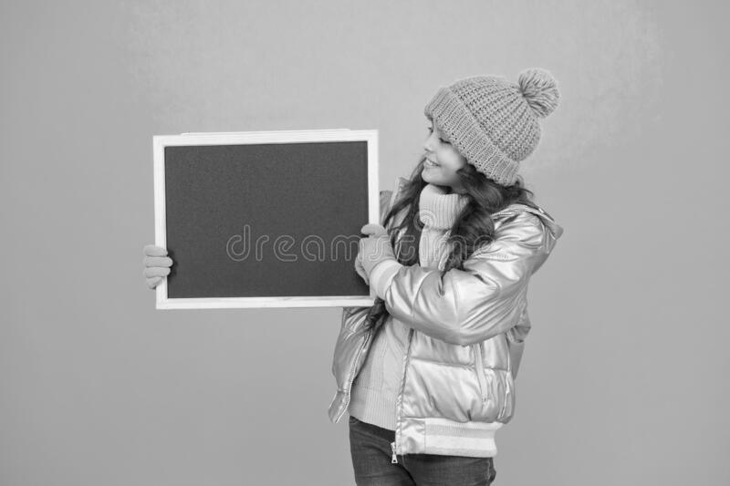 Informing kids community. For more information, you can find all details here. Important announcement. Winter leisure royalty free stock photos