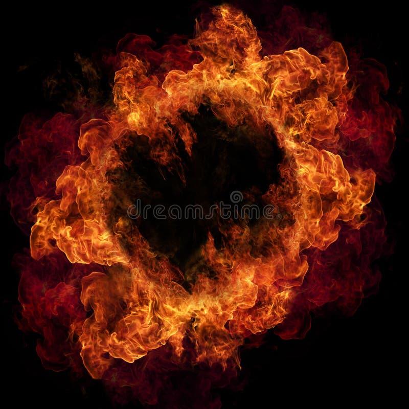 Inforni le fiamme illustrazione vettoriale