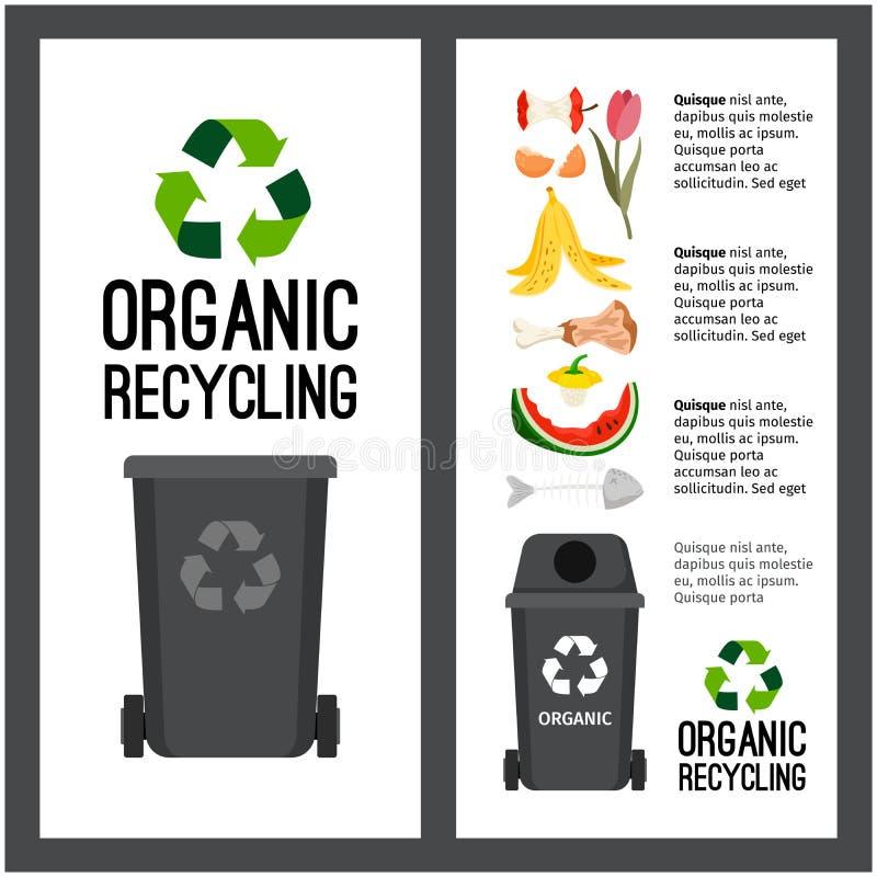 Infos grises de récipient de déchets illustration stock