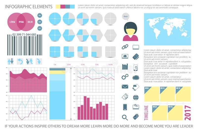 Infos quatre illustration stock