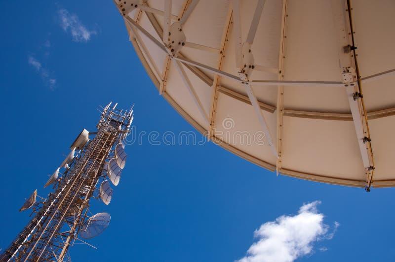 Infra-estrutura de telecomunicação fotografia de stock