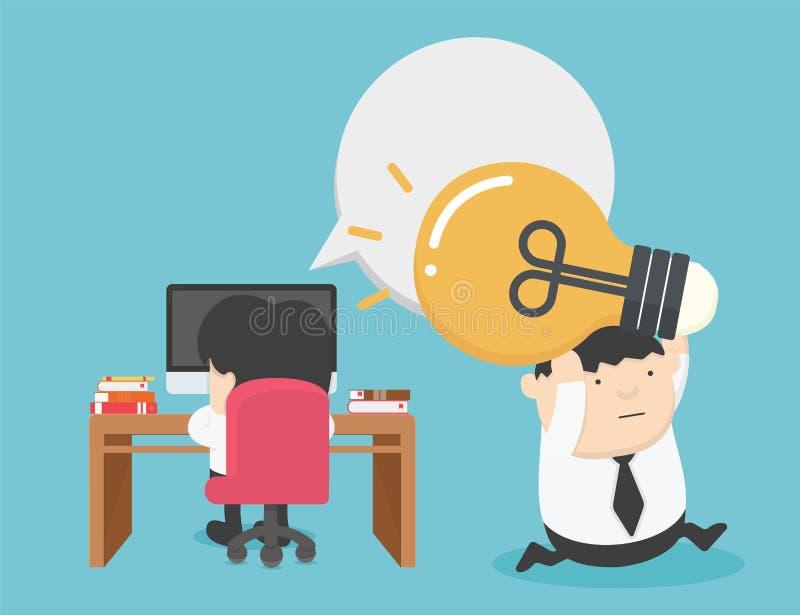 Infracción contenta del trabajo hurto del negocio de ideas Concepto de la idea, ilustraci?n del vector stock de ilustración