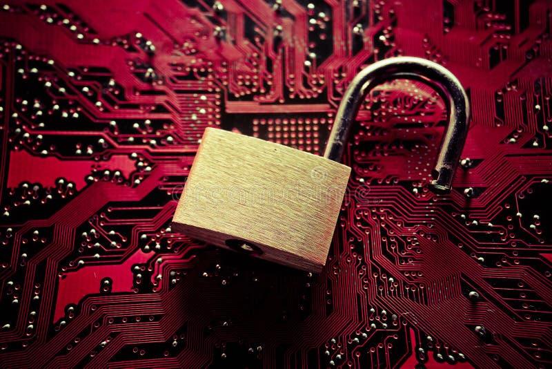 Infracción de seguridad informática fotografía de archivo libre de regalías