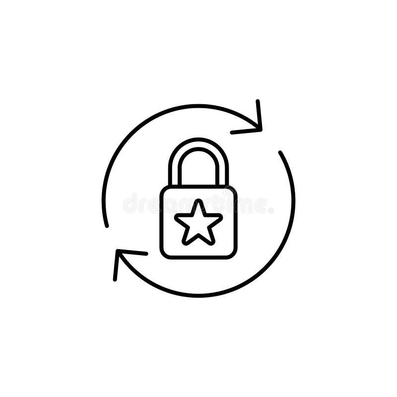 Infraction, icône de protection des données L'élément des données générales projettent l'icône pour les apps mobiles de concept e illustration libre de droits