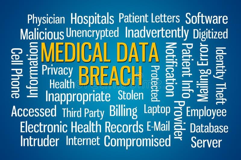 Infraction médicale de données illustration de vecteur