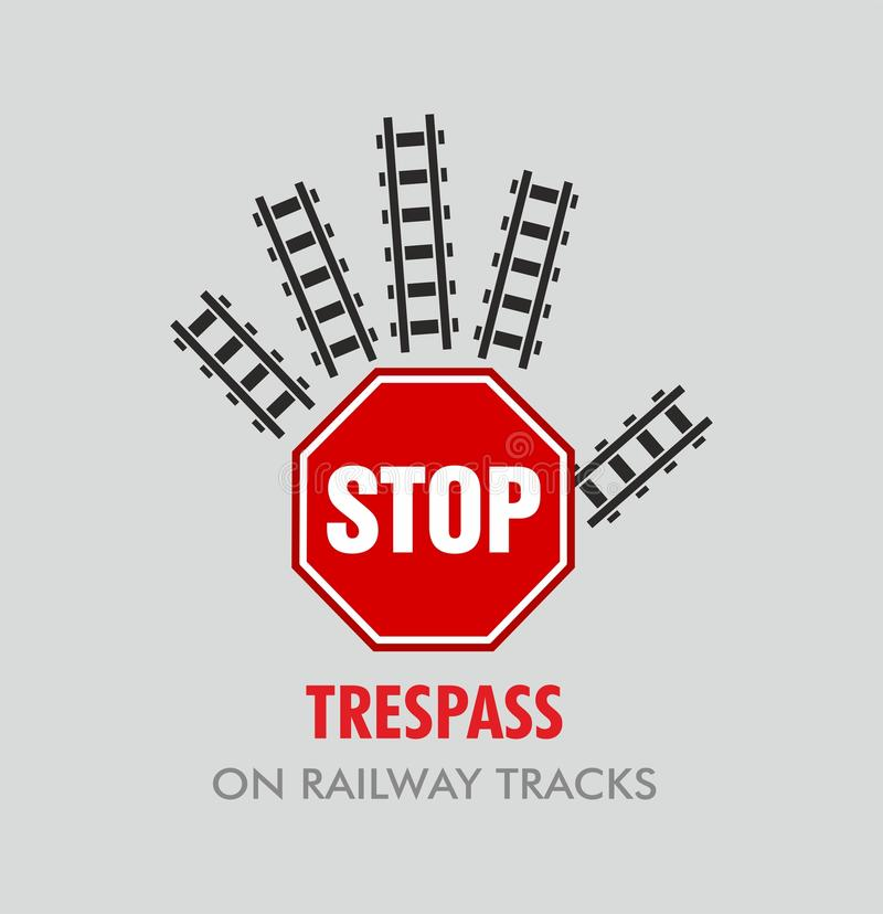 Infraction pour le chemin de fer indien illustration stock