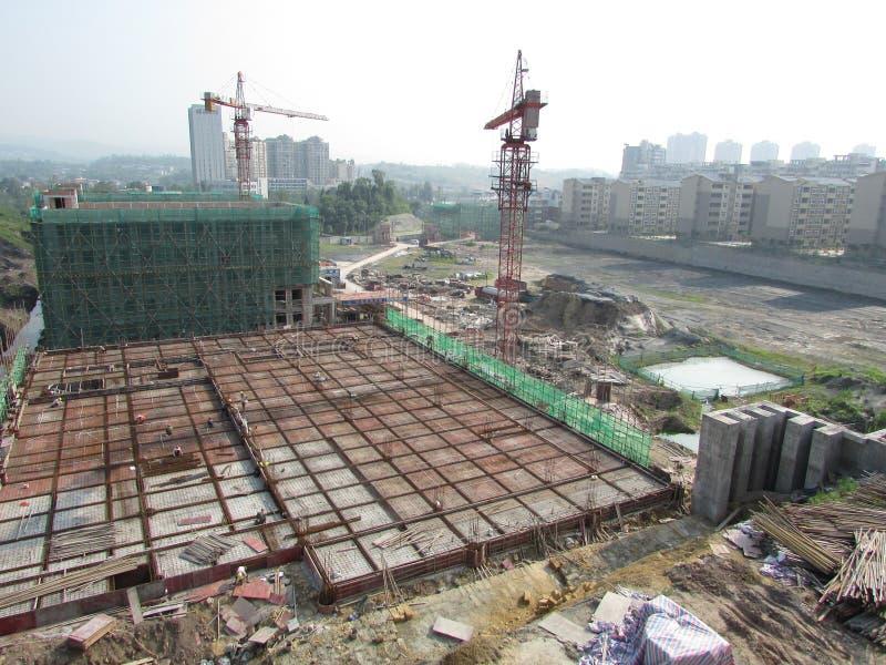 infraestructura constructiva para una nueva escuela foto de archivo