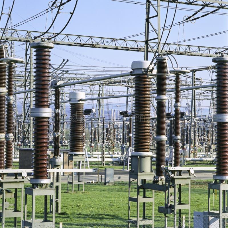 Infraestructura de la industria de la electricidad del cantón suizo del informe de Argovia imagen de archivo