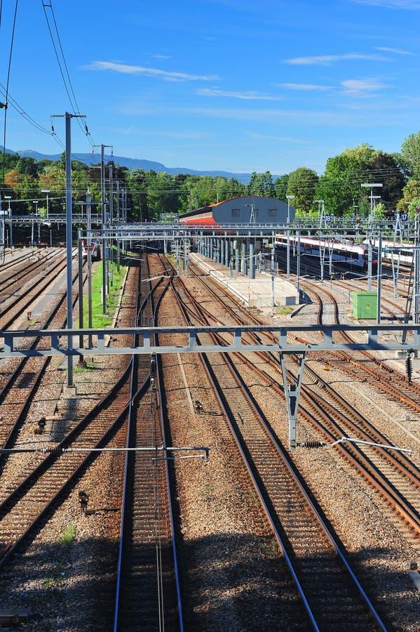 Infraestructura del ferrocarril fotos de archivo libres de regalías