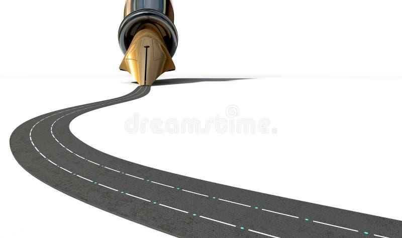 Infraestructura Pen And Road fotografía de archivo