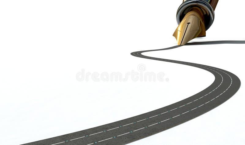 Infraestructura Pen And Road fotos de archivo libres de regalías
