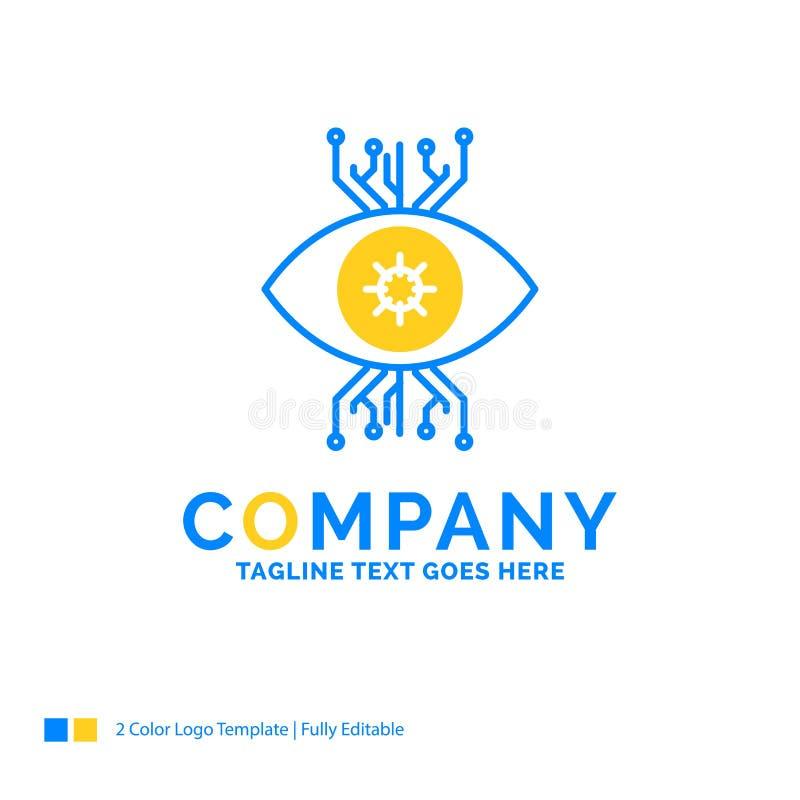 Infraestructura, supervisión, vigilancia, visión, ojo Yello azul libre illustration
