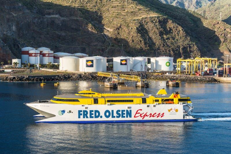 Infraestrutura de transporte de Santa Cruz de Tenerife, canário mim imagem de stock royalty free