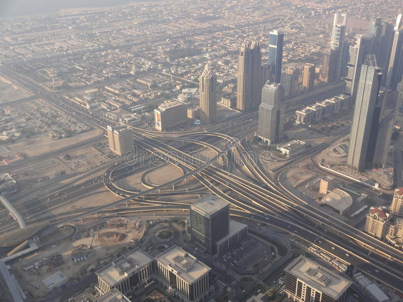 Infraestrutura, Dubai fotografia de stock