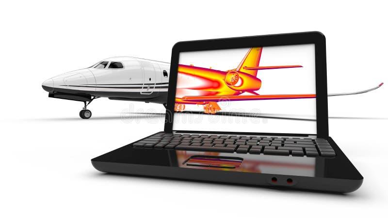 Infraröd jet stock illustrationer